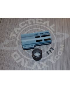 "Tactical Galaxy AR-15 titanium blue Cerakote 4"" Clamp on Handguard"
