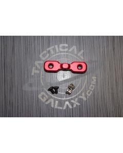 AR15 Red Anodized Keymod Bipod Adaptor