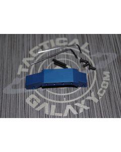 AR15 BLUE Anodized enhanced trigger guard With Custom Text or Logo.