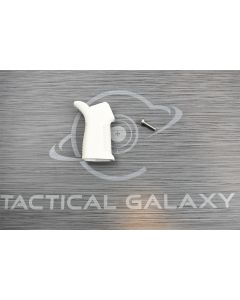 white Cerakote AR15 17° pistol grip 4