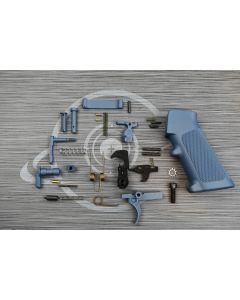 TITANIUM BLUE Cerakote OEM complete mil-spec lower part kit with pistol grip ( LPK )