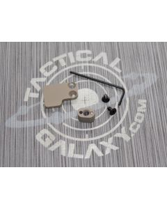 FDE AR-15 2PC Oversized Magazine Extended Release Button