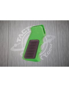Green Anodized AR15 Aluminum Pistol Grip With Rubber Insert