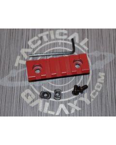 "Crimson Red  2 3/8"" picatinny rail"
