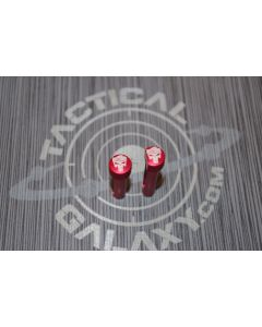 RED Anodized TRUMP PUNISHER SKULL AR-15 Extended Takedown Pins