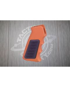 Orange-anodized-ar15-aluminum-pistol-grip-with-rubber-insert
