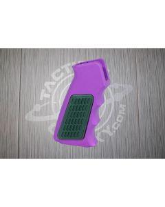 Purple Anodized AR15 Aluminum Pistol Grip With Rubber Insert