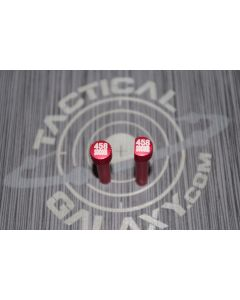 RED Anodized 458 SOCOM AR-15 Extended Takedown Pins