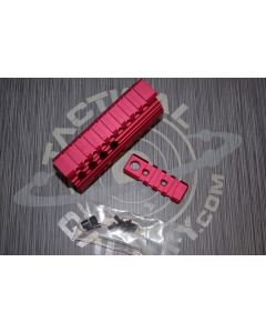 AR15 Red Anodized 4 INCH HAND GUARD RAIL