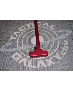Red Anodized custom engraved charging handle for ar-15