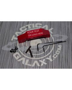 Red Anodized AR-15 OVERSIZED TRIGGER GUARD CUSTOM TEXT OR LOGO