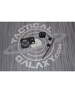 AR-15 2PC Oversized Magazine Extended Release Button - Smile Wait for Flash