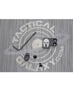 AR-15 2PC Oversized Magazine Extended Release Button - Spartan Helmet
