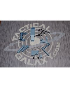 AR-15 TITANIUM BLUE CERAKOTE 6 PIECE ENHANCED LOWER KIT