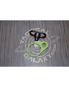 R15 QD Sling Swivel Receiver End Plate - ZOMBIE GREEN CERAKOTE