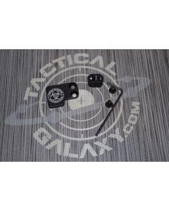 AR-15 2PC Oversized Magazine Extended Release Button - ZORT Skull